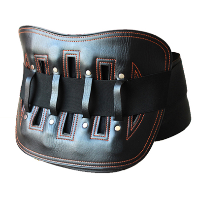 Leather Waist Brace Belt Wrap Buckle Belt