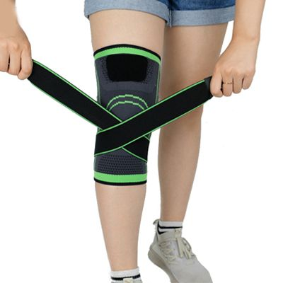 Breathable knee compression support brace