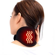 magnetic neck heated brace support