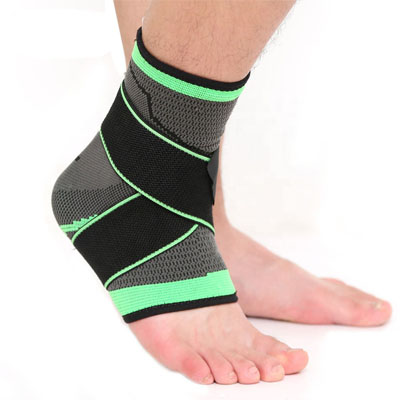 Ankle Support Sleeve Sports With Binding Strap