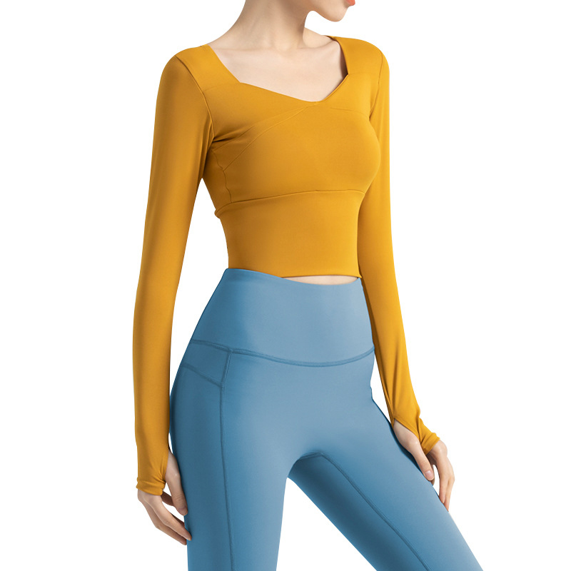 Tight Yoga Tops with Built in Bra
