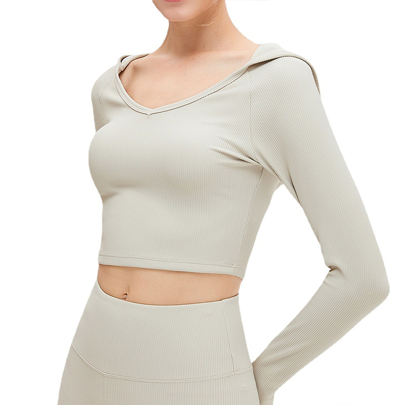 Tight Hooded Yoga Top